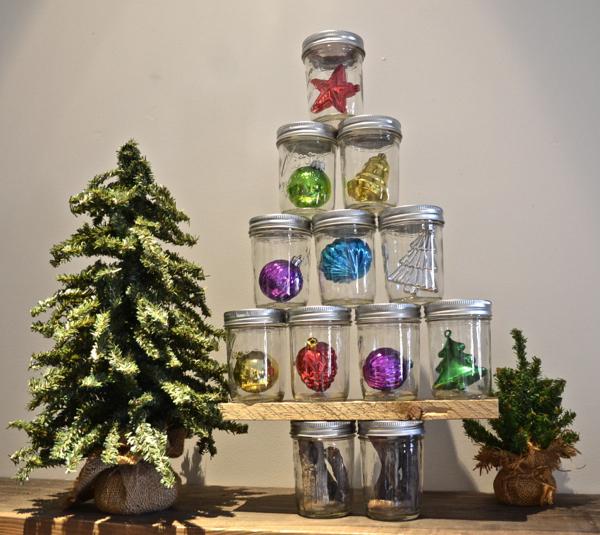 Mason Jar Christmas Tree Country Design Style