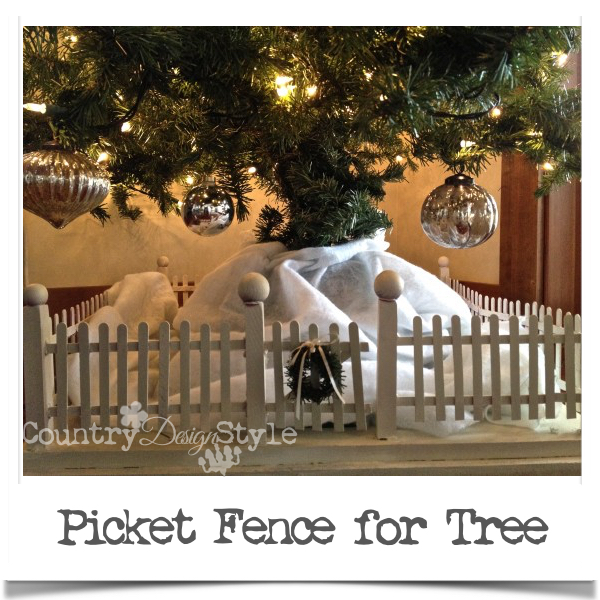 Picket Fence for Christmas Tree