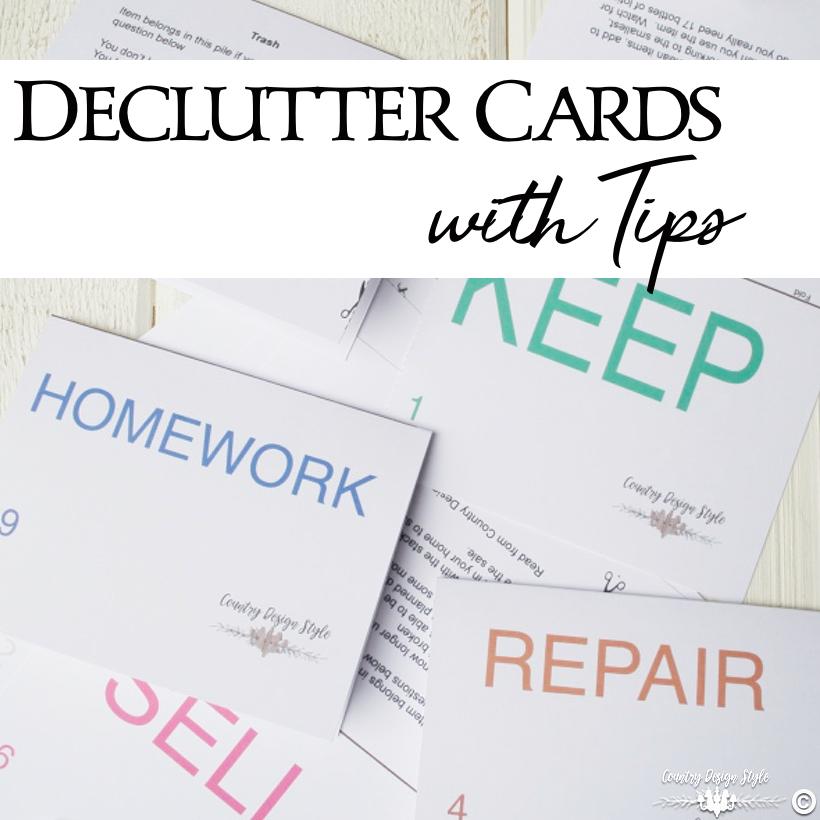 Declutter Cards