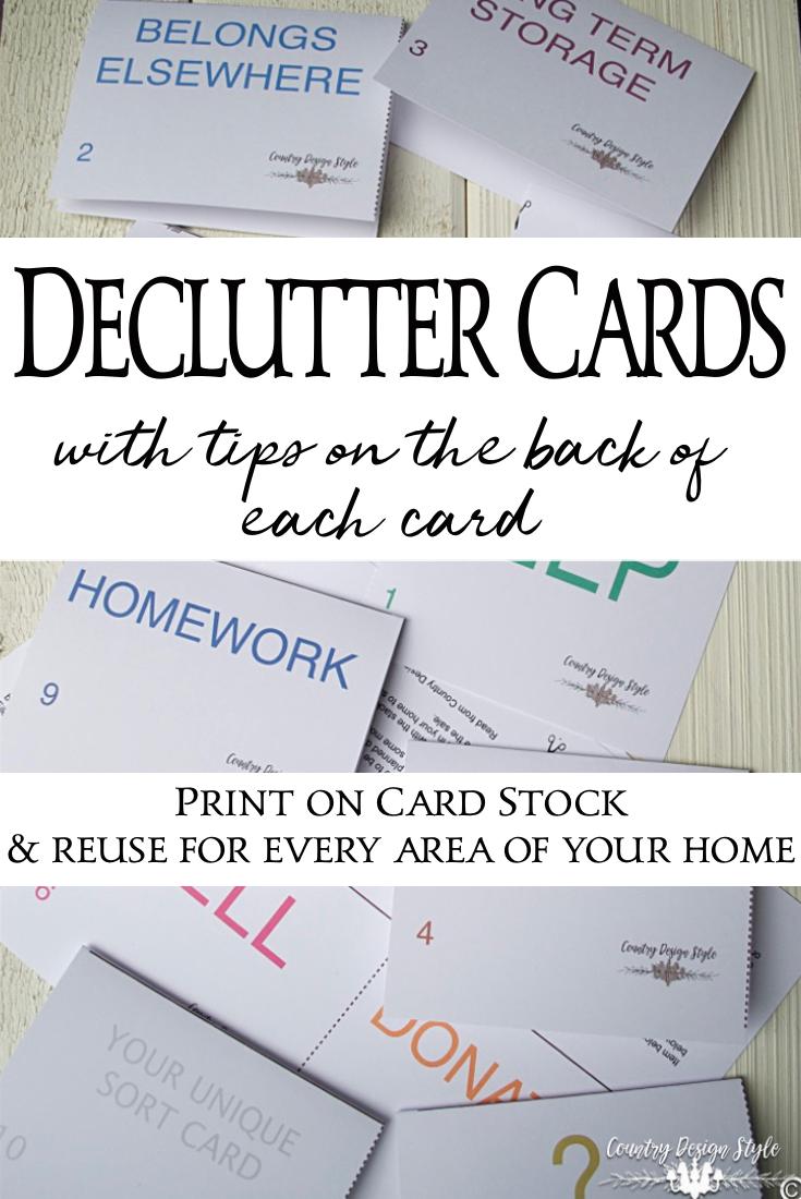 Sort cards or declutter cards