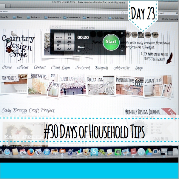30daysofhouseholdtips day 23
