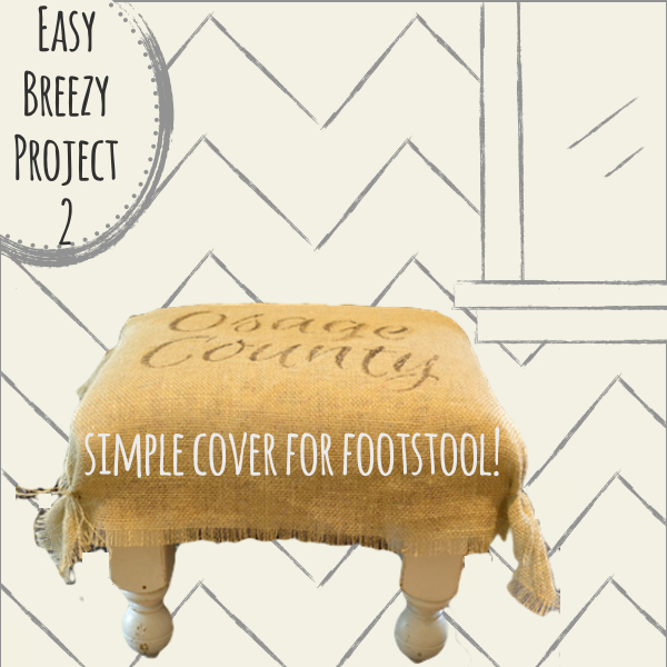 Easy Breezy Project 2 Footstool Cover