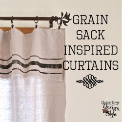 Grain Sack Inspired Curtains SQ