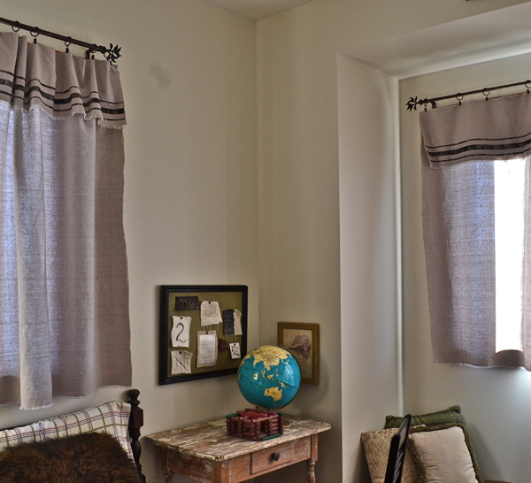 Grain Sack Inspired Curtains in Room-4