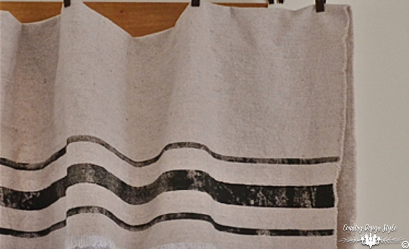Grain Sack Inspired Curtains Country Design Style