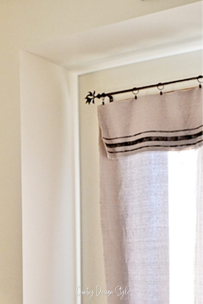 curtains hanging in bedroom