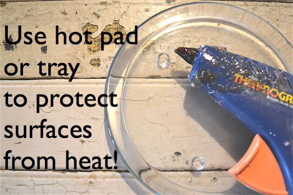 Hot Glue Gun tips Tray