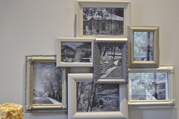 Layered Frames from a thrift store | Country Design Style | countrydesignstyle.com