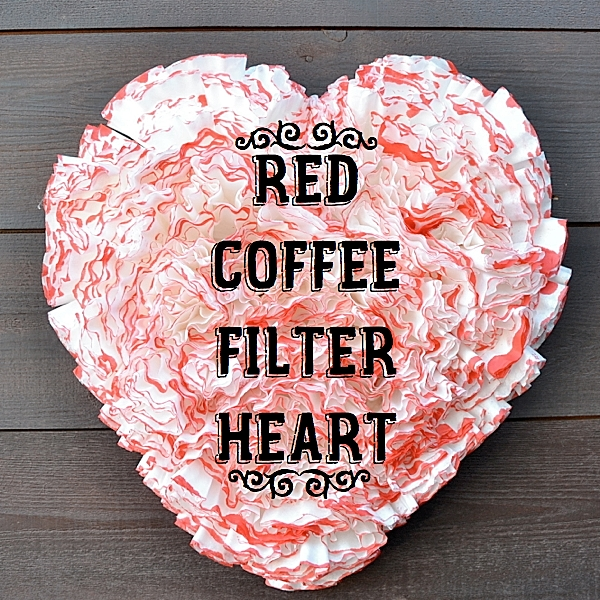 Red Coffee Filter Heart