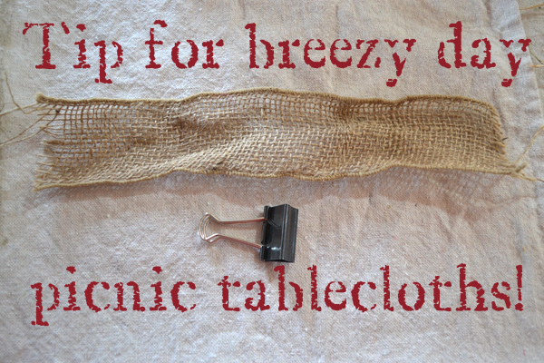 Easy-Breezy-Tip-Country-Design-Style #picnictablecloth #picnictip #outdoordining