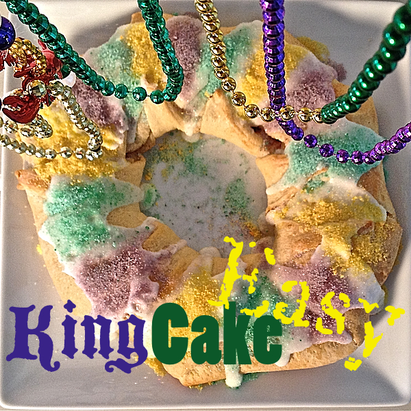 This is a quick way to make a king cake easy.