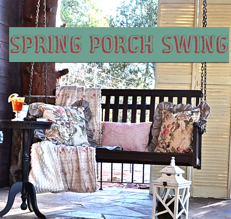 Spring Porch Swing https://countrydesignstyle.com #porchswing