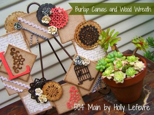 wood and burlap wreath 1