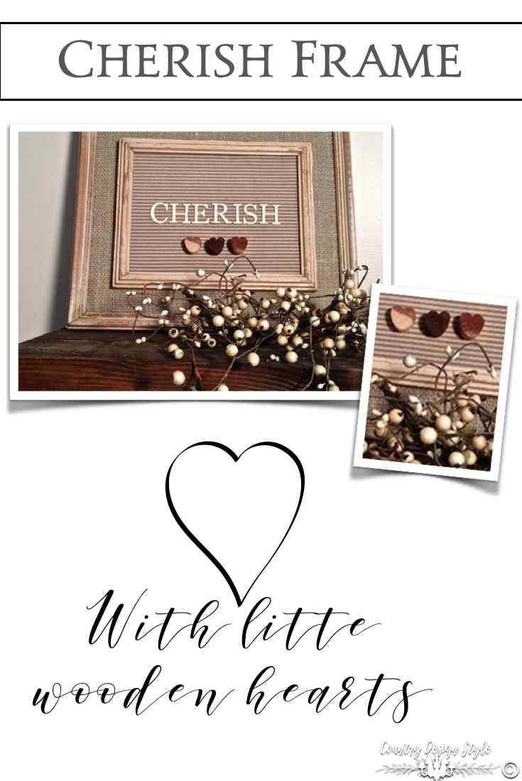 Cherish Frame Pin | Country Design Style | countrydesignstyle.com