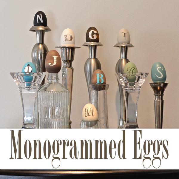 monogrammed-eggs-country-design-style-thumb #monogrammedeggs