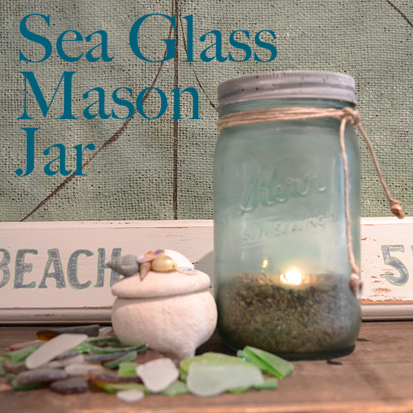 Sea Glass Mason Jar