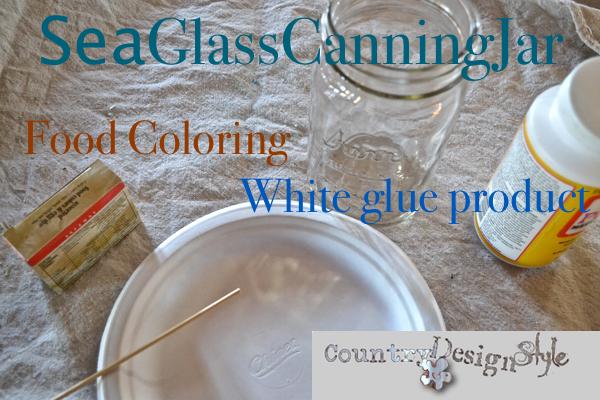 sea-glass-mason-jar-country-design-style-cast-of-characters #masonjar #seaglass
