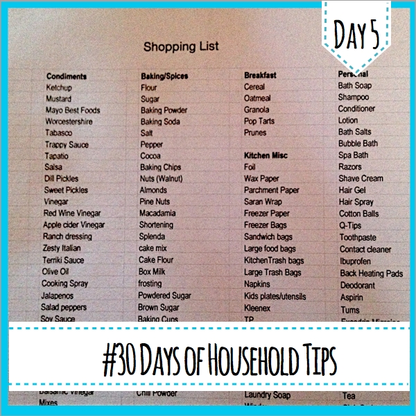 Shopping list http://countrydesignstyle.com