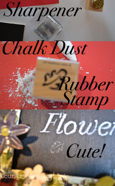 chalk dust rubber stamp http://countrydesignstyle.com #chalkdustrubberstamp