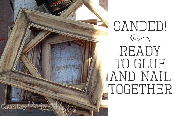 sanded http://countrydesignstyle.com #frames #diy #layeredframes