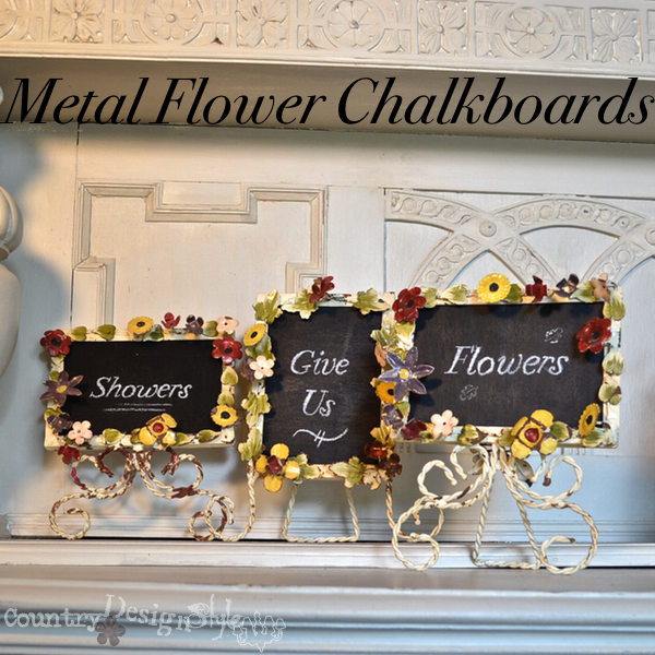 metal flower chalkboards