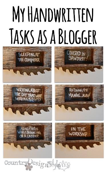 tasks as a blogger http://countrydesignstyle.com #blogger #tasks #sign