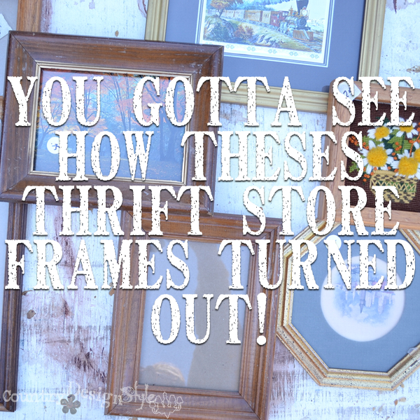 Thrift store frames http://countrydesignstyle.com