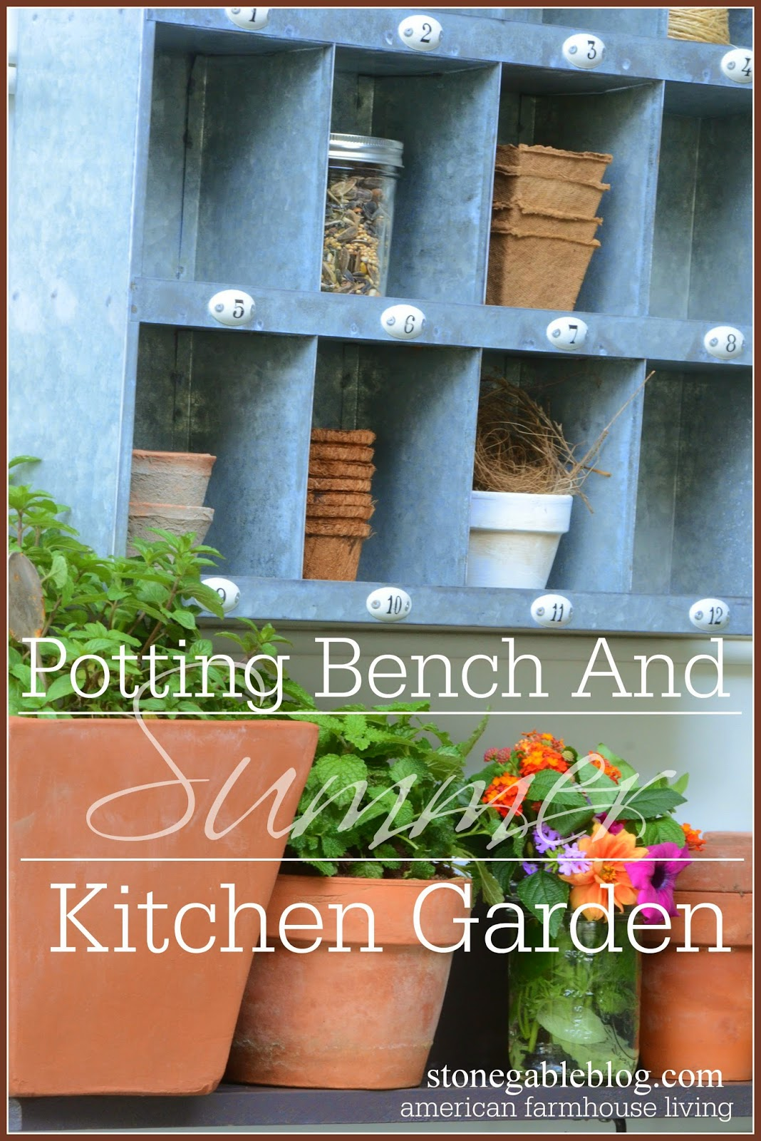Potting-bench-TITLE PAGE-stonegableblog.com
