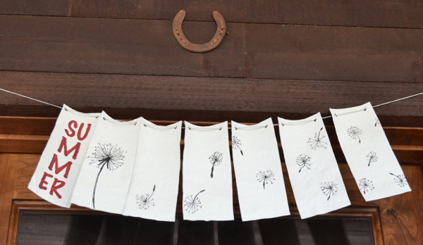 summer drop cloth banner http://countrydesignstyle.com #dropcloth #banner #summer