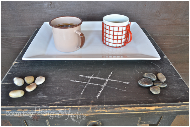 coffee and tic tac toe http://countrydesignstyle.com #hometour #blogtour #summer