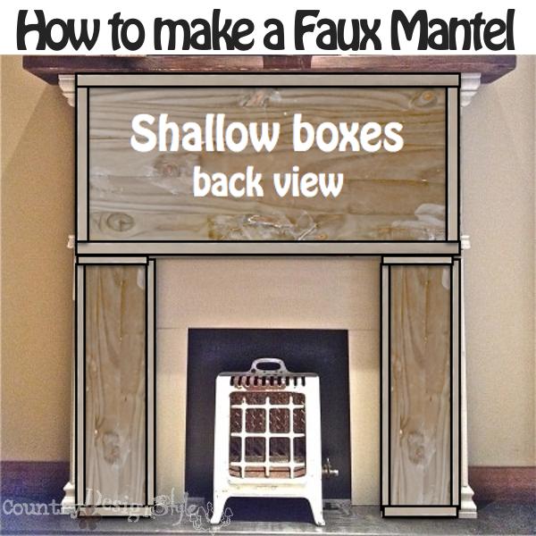 Box shapes for make mantel https://countrydesignstyle.com #fauxmantel #diy #mantel