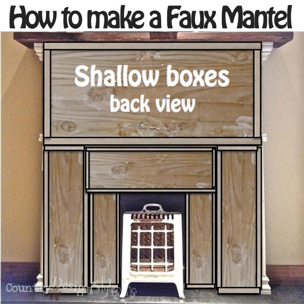 firebox insert https://countrydesignstyle.com #fauxmantel #diy #mantel