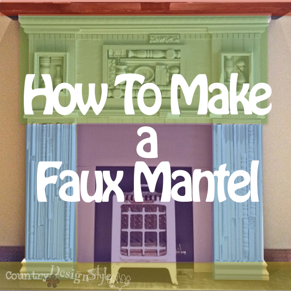 How to Make a Faux Mantel