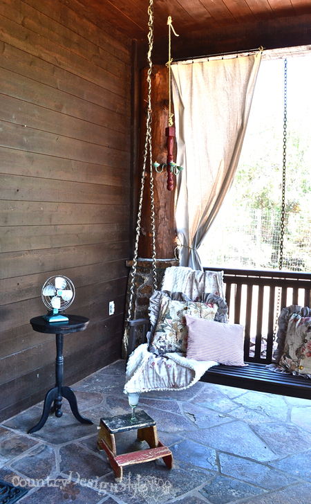 naps on the porch swing http://countrydesignstyle.com #hometour #blogtour #summer