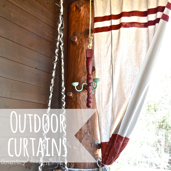 http://countrydesignstyle.com #dropcloth #curtains #outdoorcurtains