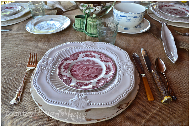 placesetting http://countrydesignstyle.com #hometour #blogtour #summer