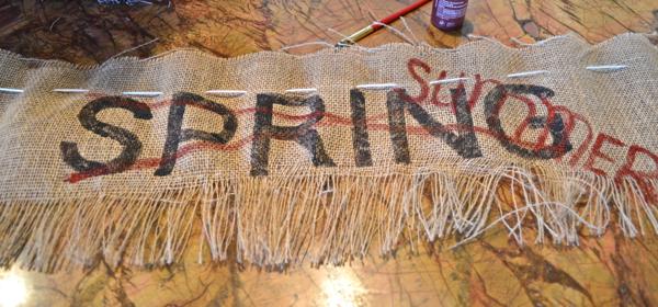 last summer banner https://countrydesignstyle.com #dropcloth #banner #summer