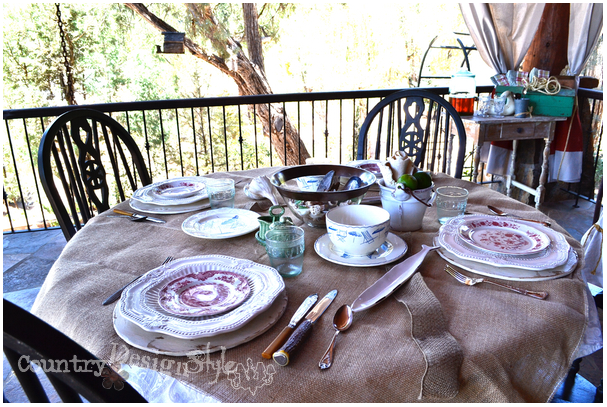 tablescape http://countrydesignstyle.com #hometour #blogtour #summer