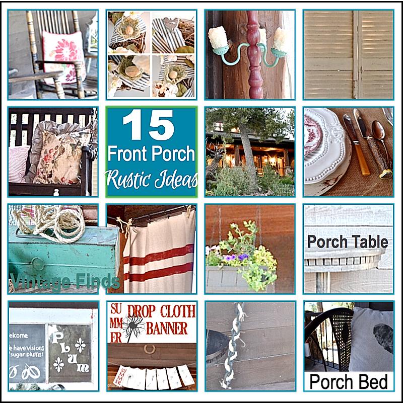 15 Front Porch Rustic Ideas https://countrydesignstyle.com #porch #rustic #DIY