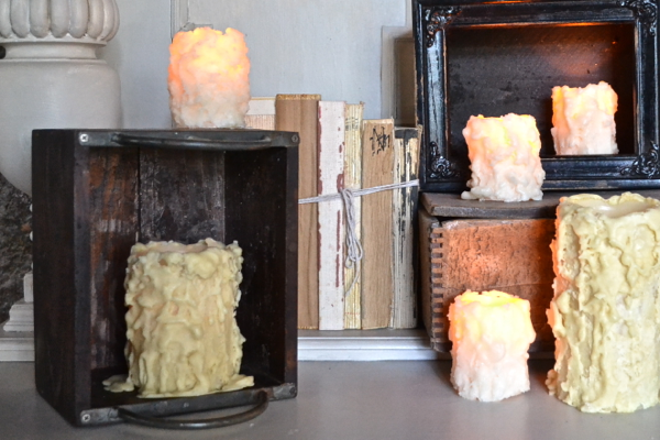 mixed with other candles http://countrydesignstyle.com #batterycandles #candles #lighting