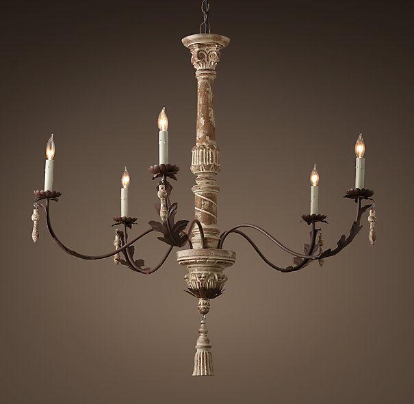 Restoration Hardware spindle chandelier