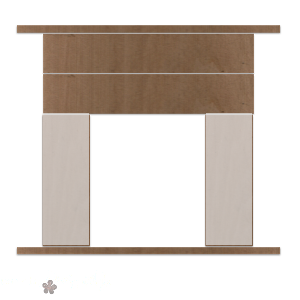 how to build a mantel part 2 http://countrydesignstyle.com #DIY #howto #fauxmantel