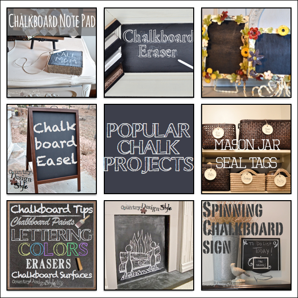 popular chalk projects https://countrydesignstyle.com #chalk #chalkboard #diyprojects