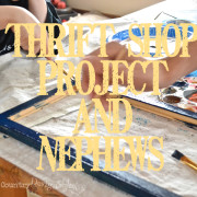 Thrift shop project and nephews https://countrydesignstyle.com #thrift #diy #thriftshopproject