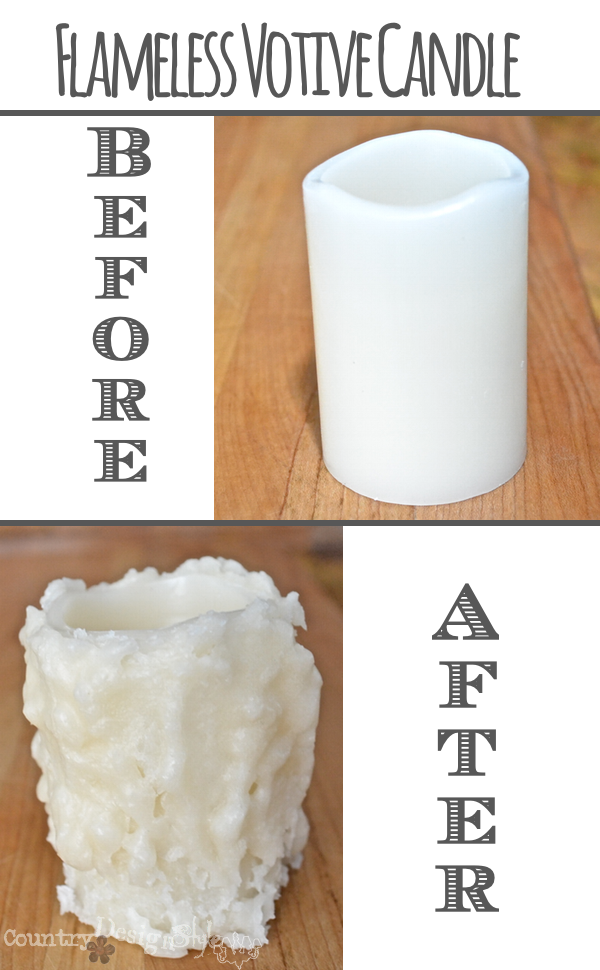 before and after http://countrydesignstyle.com #batterycandles #candles #lighting