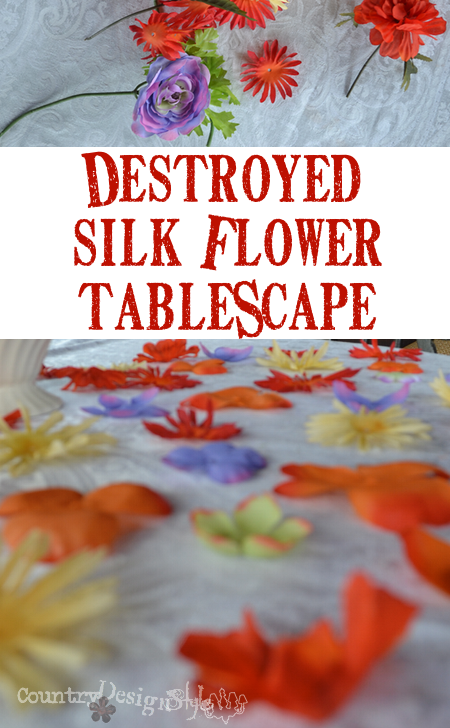 from trash to fun http://countrydesginstyle.com #silkflowers #tablescapes #simplepartyideas