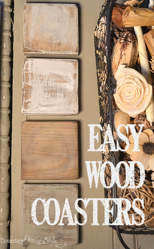 easy wood coasters https://countrydesignstyle.com #wood #coasters #easyDIY