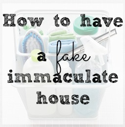 how to have a fake immaculate house