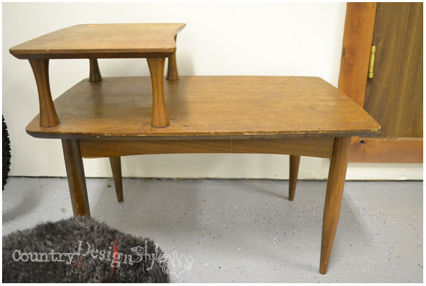 thrift shop table http://countrydesignstyle.com #repurposedfurniture