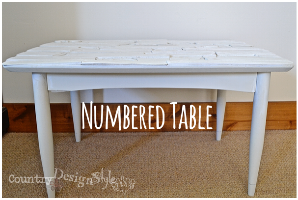 numbered table numbered table http://countrydesignstyle.com #repurposedfurniture